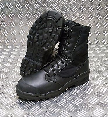 Besorgt Genuine British Army Issue Magnum Black Steel Toe Cap Boots Hot Weather - New