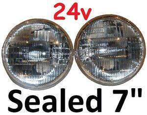 "7/"" Sealed Beam Headlights H4 24V 75//50w suits Toyota Landcruiser 75 78 79 HZJ75"