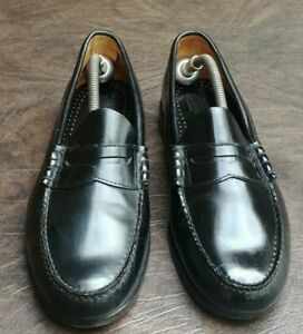 BASS-SLIP-ON-PENNY-LOAFERS-SZ-11-5-D-USED-CASUAL-BUSINESS-CLASSIC-BLACK-LEATHER