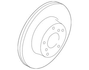 Genuine Subaru Disc Brake Rotor 26300AL03A