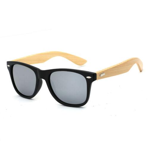 Bamboo Men Women Pilot Mirror Polarised Sunglasses UV400 Fashion Lens Unisex