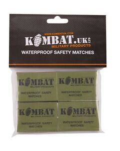 PACK OF 4 BOXES WATERPROOF WINDPROOF SURVIVAL FIRE STARTING NON TOXIC MATCHES