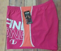 And1 Womens Plus Size Running Athletic Shorts Built In Brief Pink 2x