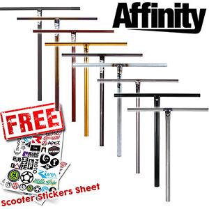 Guidon Affinity Stunt Scooter - Classics Basic T Bars Titanium Raw XL
