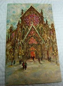 Vintage unused christmas greeting card famous artists studios image is loading vintage unused christmas greeting card famous artists studios m4hsunfo