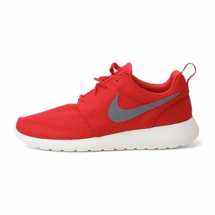 Nike ROSHE RUN Sport Red Cool Grey 511881 601 Size US Men 10