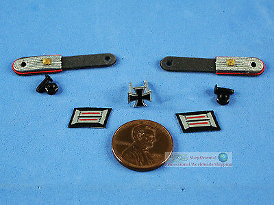 1:6 ACTION FIGURE WW2 GERMAN Commander Officer Badge Emblem Patch INSIGNIA FH_2R