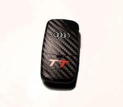 Audi Tt 8n 8e Carbon Fiber Style Key Sticker With Red Tt Logo Ebay