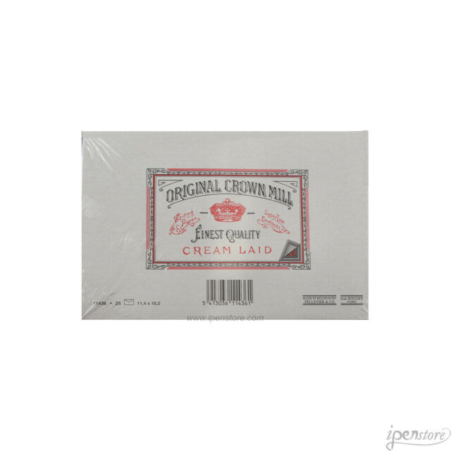 11.4cm x 16.2cm Crown Mill 25 Luxury Lined Envelopes C6 size WHITE
