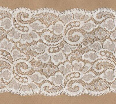 Ivory Rigid Lace Trimming 5mts 13cm Wide