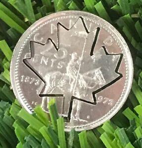 Canada-Golf-Ball-Marker-Quarter-RCMP-100th-Centennial-2020-Maple-Leaf-Cut-Coin