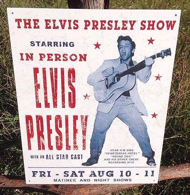 ELVIS PRESLEY Important Only Sign Tin Vintage Garage Bar Decor Old Rustic