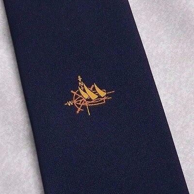 Vintage Cravatta Da Uomo Cravatta Crested Club Associazione Società Navy-mostra Il Titolo Originale Possedere Sapori Cinesi