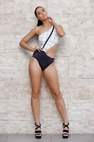 Muse Swimwear One Piece Cut Away Swimwear Szxs Bnwot Free Post E23