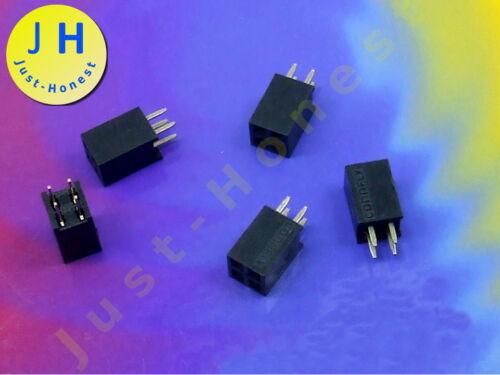 Stk.5x boccole barra//Header 2 x 2 Poli//Pins a fila doppia 2.54mm #a1653
