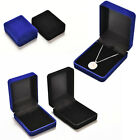 Womens Fashionable Velvet Necklace Jewelry Storage Boxes Locket Jewellery Case