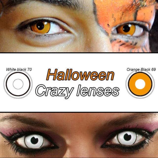 colored contacts lenses korea halloween crazy lens kontaktlinsen orange