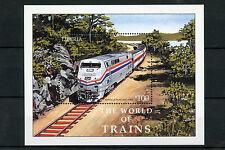 Liberia 2003 MNH World of Trains 1v S/S Railways Amtrak Züge Trenes Treni Stamps