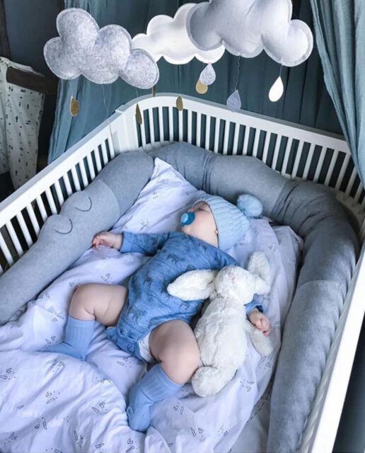 Merveilleux 185cm Cotton Baby Crib Bed Bumper Crocodile Doll Cushion Kids Nursery Bed  Pillow