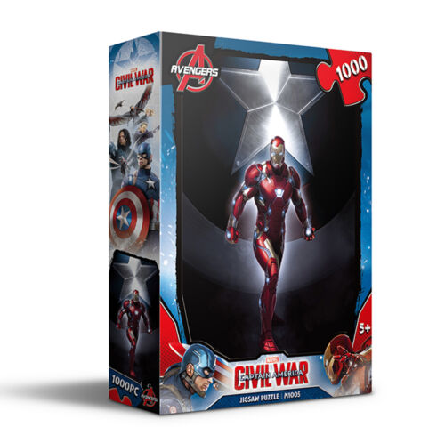 1000Piece Glow Jigsaw Puzzle IRON MAN Hobby Home Decoration DIY
