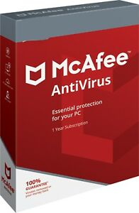 Details about McAfee Antivirus 2019 - 2 PC 1 Year (e Delivery) Windows  7/8/10
