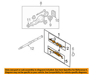 Fabulous Subaru Oem 03 05 Forester Rear Axle Assembly Or Cv Shaft Wiring 101 Orsalhahutechinfo