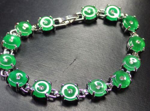 Gold Plate Vert Jade Perle Perles Cercle Bracelet braceletdiamond imitation 297534