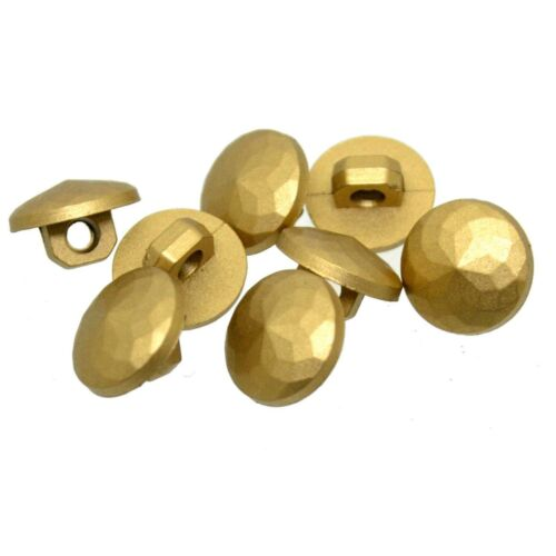 GOLD FACETED SHANK BUTTONS 10mm and 11.5mm