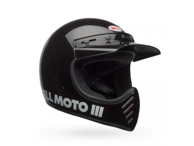 Casco Bell Off-Road Motocross Moto-3 Classic Negro Brillante