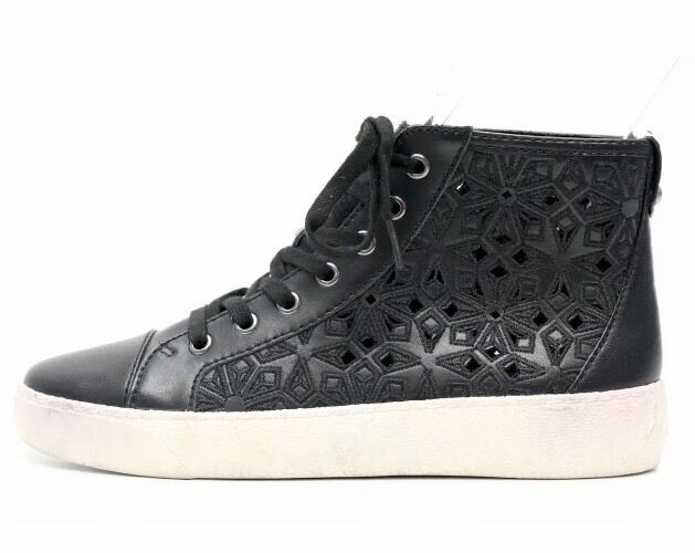 Sam Edelman Branson Black Leather High Top Sneakers 1254 Size 6M $120