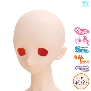 EyeHole open MakeOffer Volks Dollfie Dream Head Parts DDH-02 Semi-White Skin