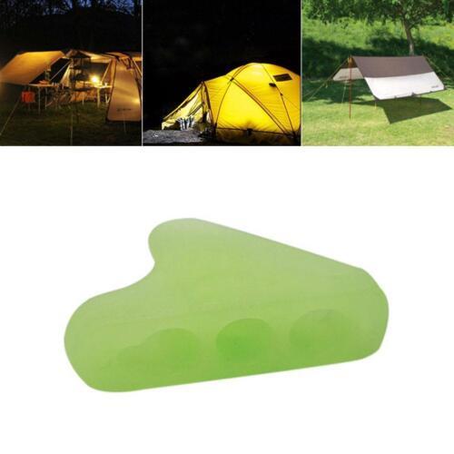 10 Stücke Nachtleuchtende Campingzelt Lock Schnur Seil Verschluss Guy Line/_Tens