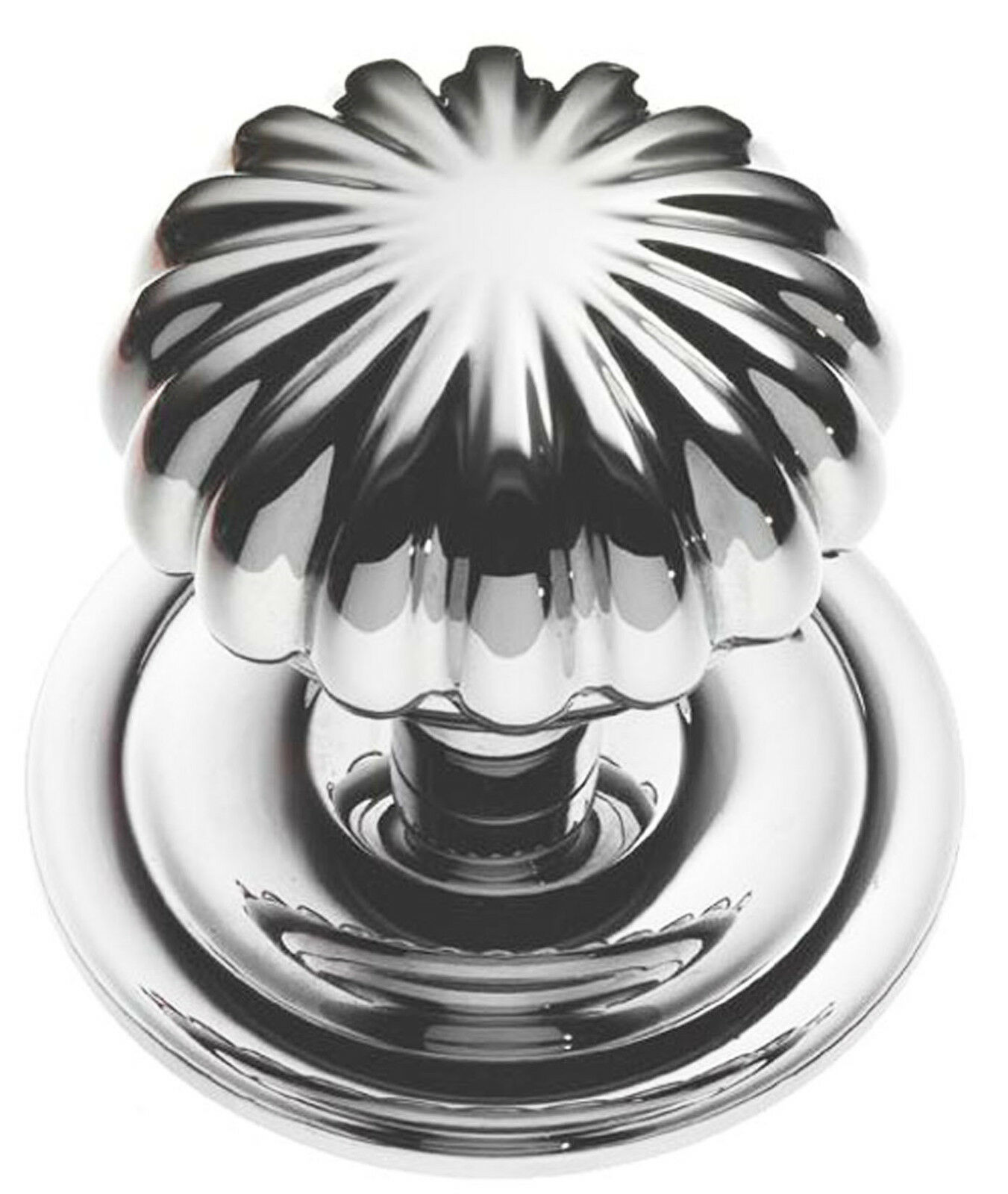 Polished Chrome Victorian  Peel \Centre Pull Door Knob   Handle (BC668)