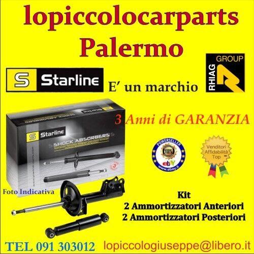 dal 1998 al 2004 Starline Kit Ammortizzatori Ant+Post Opel Astra G S.W