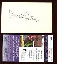 Darrell Porter Autographed Index Card JSA Cert
