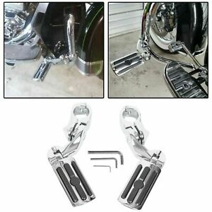 1-1-4-034-Highway-Motorcycle-Foot-Pegs-Pedals-Crash-Bar-For-Harley-Davidson-Chrome