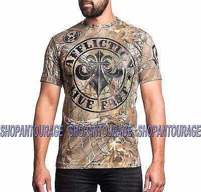 AFFLICTION Divio Smash A14030 New Men`s Realtree Camo T-shirt
