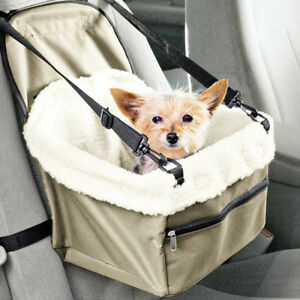 Car Seat For Small Dogs Pet Travel Box Lining Chair Dog Booster Seat ...