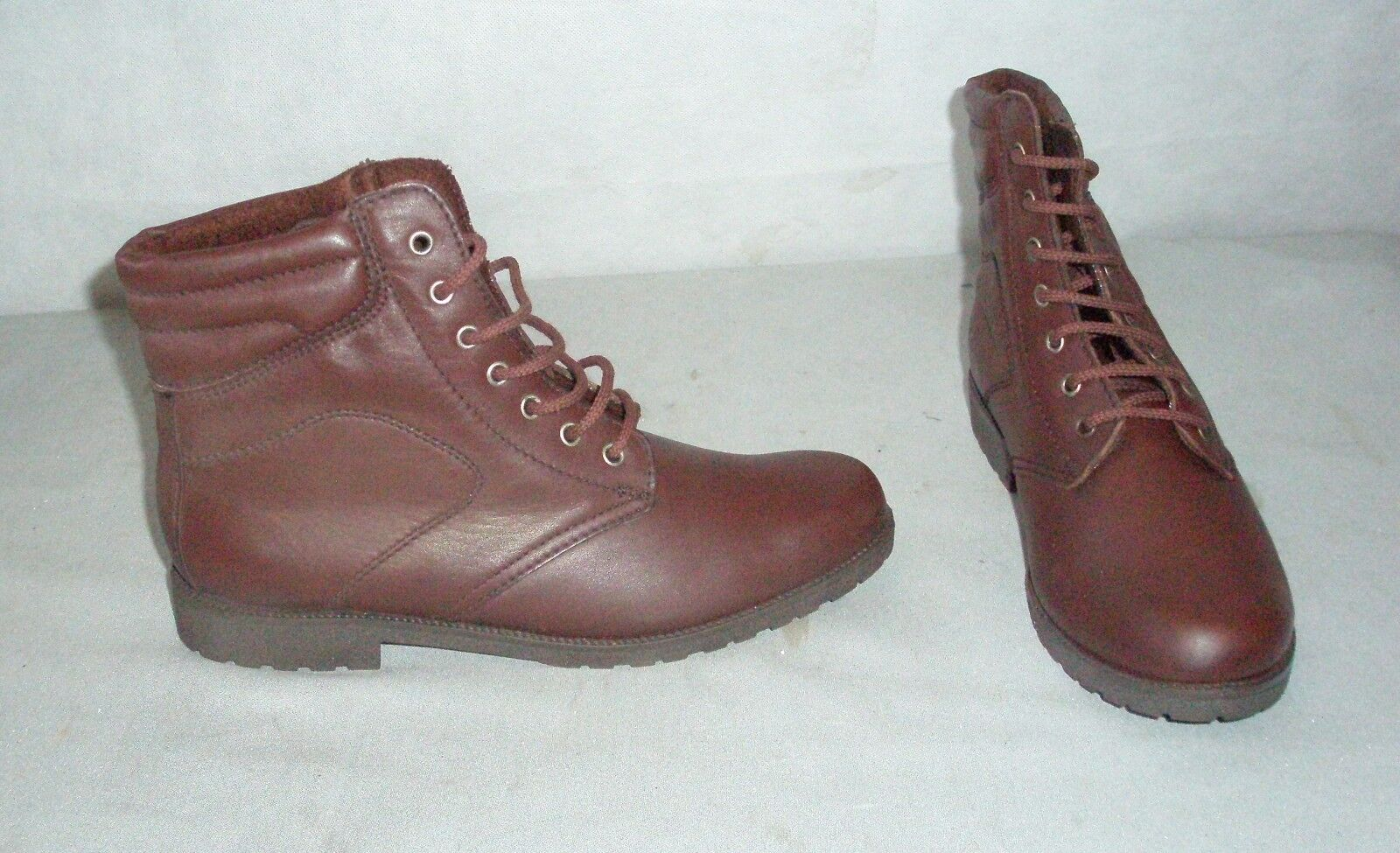 Aigle Malham Brown Lace up Leather Fleece lined Jodhpur boots size