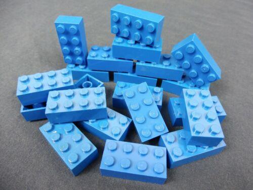 LEGO®  20x Basisstein Basic Stein 2x4 blau Friends Minecraft 3001