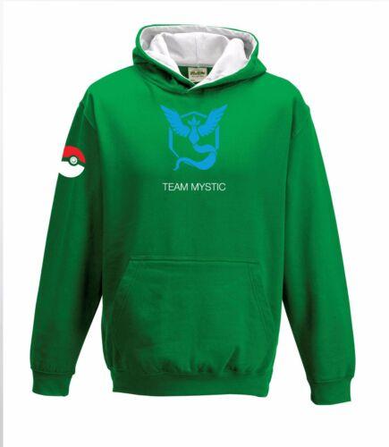 Pokemon Go Team Valor Mystic Instinct Unisex Childrens /& Adults Gaming Fan Hoody