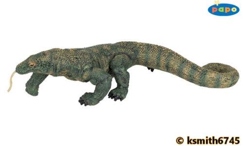 NUOVO * Papo KOMODO drago giocattolo di plastiche solide Figura Wild Zoo Animale Lucertola