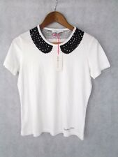 BNWT See By Chloe Womens Collar Graphic T-Shirt Size UK 10 RRP £60