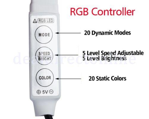 4.5V 3M Battery Operated RGB LED Strip Light Waterproof Craft Hobby Light 300CM