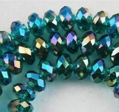 DIY Jewelry Faceted 70pcs 6*8mm Crystal Faceted Loose Beads AB