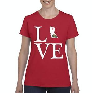 Love-California-Women-Shirts-T-Shirt-Tee