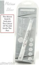 Grey Edible Ink Food Pen.Double Sided. 2.5mm Thick Nib & 0.5mm Fine Nib.