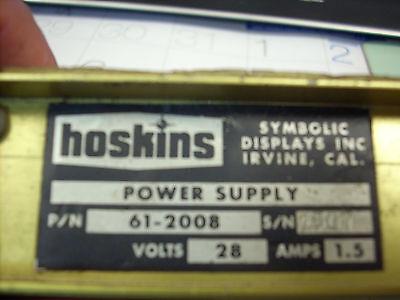 POWER SUPPLY P//N 61-2008
