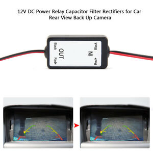 12V-DC-Car-Rear-View-Backup-Camera-Power-Relay-Capacitor-Filter-Rectifiers-Cable