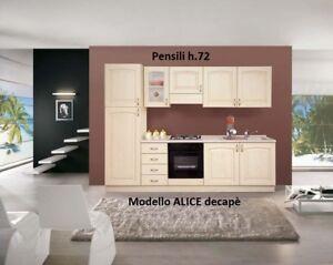 Dettagli su Cucina componibile Classica Alice decapè pensili cappe  scolapiatti basi lavelli